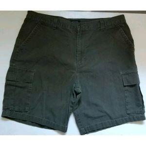 Dockers Black Denim Jeans Cargo Shorts Size 38